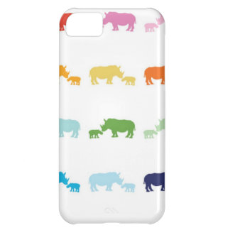 Rainbow Rhinos iPhone 5C Case