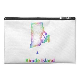 Rainbow Rhode Island map Travel Accessory Bag