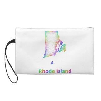 Rainbow Rhode Island map Wristlet Clutches