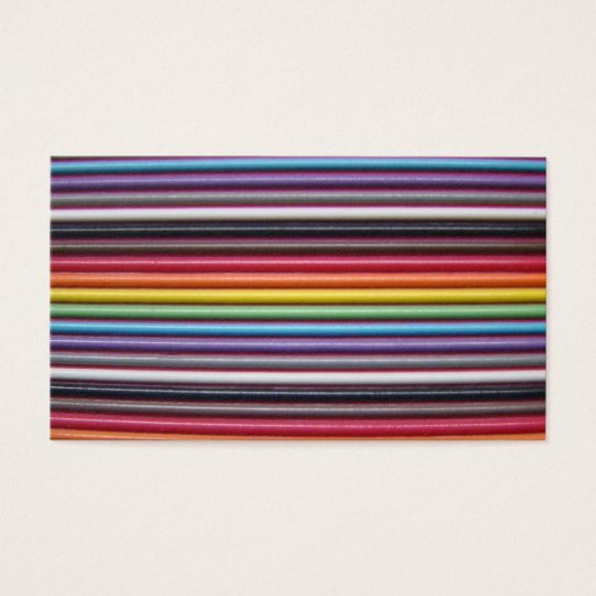 Rainbow Ribbon Cable Business Card