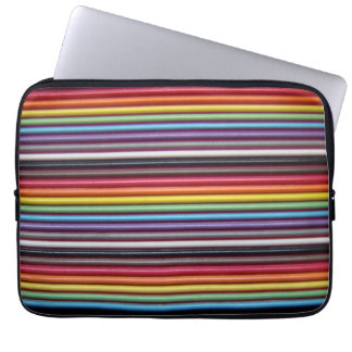 Rainbow Ribbon Cable Laptop Sleeve