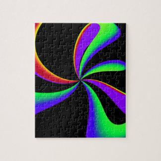 Rainbow Ribbon Swirl Jigsaw Puzzle