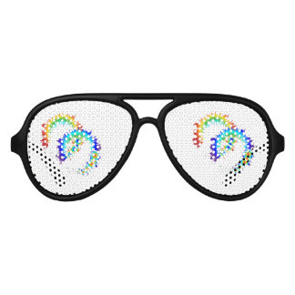 rainbow rings aviator sunglasses