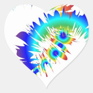 rainbow rings heart sticker