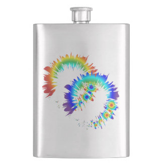 rainbow rings hip flask