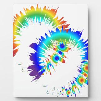 rainbow rings plaque
