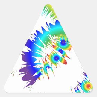 rainbow rings triangle sticker