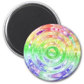 Rainbow Ripple 6 Cm Round Magnet