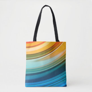 Rainbow Ripples All-Over-Print Tote Bag