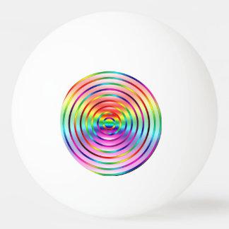 Rainbow Ripples Ping Pong Ball