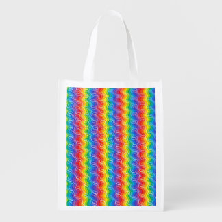 Rainbow Ripples Reusable Grocery Bag
