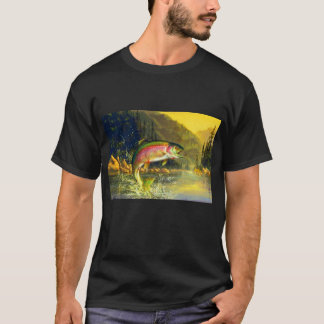 Rainbow River Trout Jumping for that Bug T-Shirt