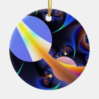 Rainbow Road Fractal Christmas Ornaments