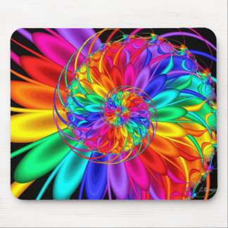 Rainbow Road Mouse Pad