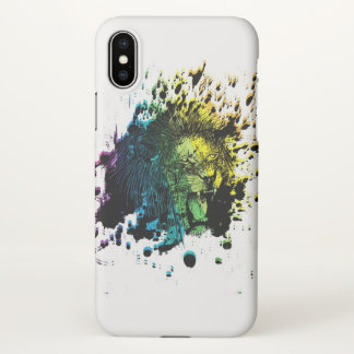 Rainbow Roaring Lion iPhone X Case