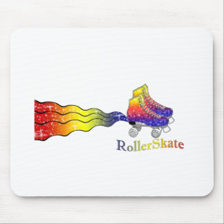Rainbow Rollerskates Mouse Pads