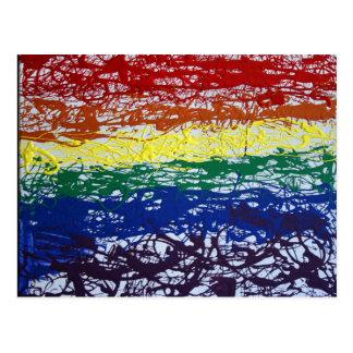 Rainbow Romp Postcard