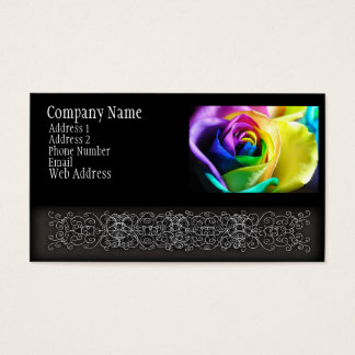 Rainbow Rose 11 Business Card