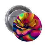 Rainbow Rose 6 Cm Round Badge