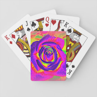 Rainbow Rose Abstract Playing Cards