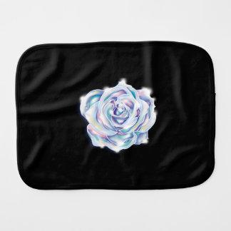 Rainbow rose burp cloth