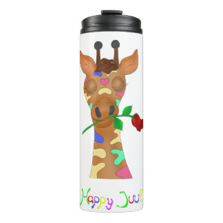 Rainbow Rose by The Happy Juul Company Thermal Tumbler
