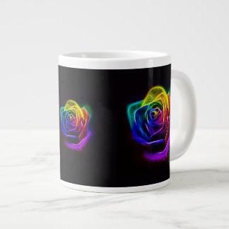 Rainbow Rose Fractal Jumbo Mug