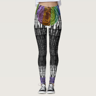 Rainbow Rose Leggings
