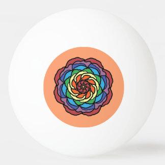 Rainbow Rose Ping Pong Ball