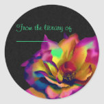 Rainbow Rose Round Stickers