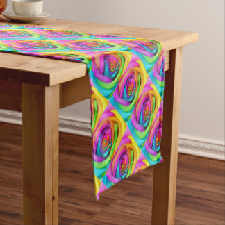 Rainbow Rose Short Table Runner