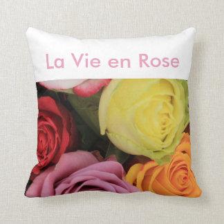 """rainbow roses"" ""la vie en rose"" by Therosegarden Cushions"