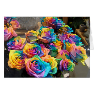 Rainbow Roses Notecard