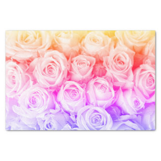 Rainbow Roses Tissue Paper