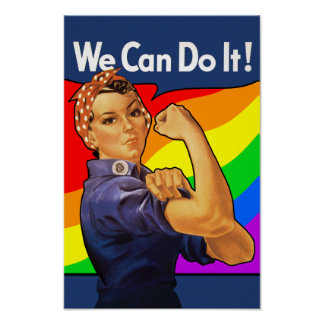 Rainbow Rosie Poster
