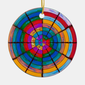 Rainbow Round Round Ceramic Decoration