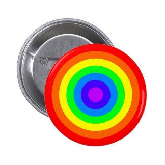 Rainbow Roundel 6 Cm Round Badge