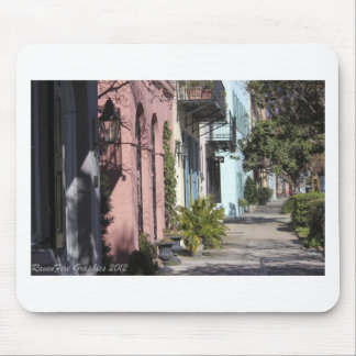 Rainbow Row Charleston SC Mouse Pad