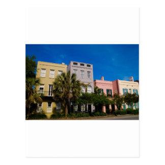 Rainbow Row Charleston, SC Postcard