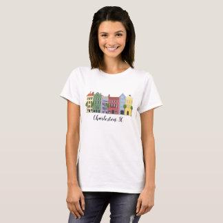 Rainbow Row Charleston SC Tshirt