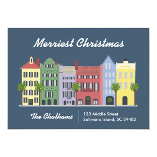 Rainbow Row Charleston South Carolina Card