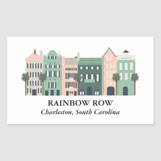 Rainbow Row Charleston South Carolina Sticker