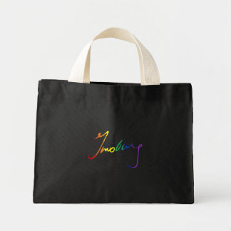 Rainbow Ruth Bader Ginsburg Autograph - LGBT Polit Mini Tote Bag