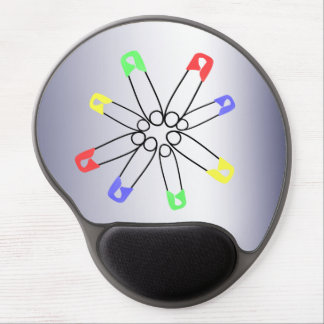 Rainbow Safety Pin Solidarity Blue Yellow Green Gel Mouse Pad