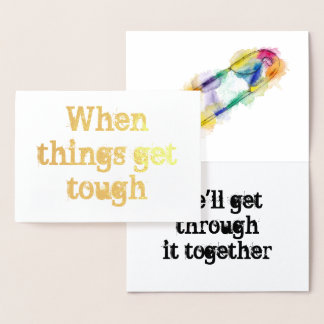 Rainbow Safety Pin Solidarity Foil Card