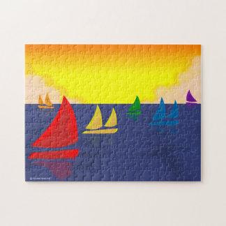 Rainbow Sailboats Puzzle