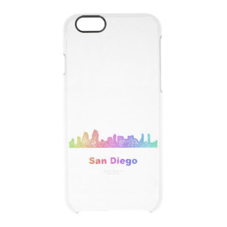 Rainbow San Diego skyline Clear iPhone 6/6S Case