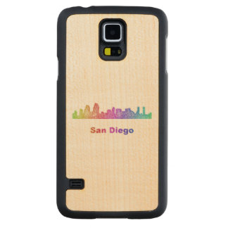 Rainbow San Diego skyline Maple Galaxy S5 Case