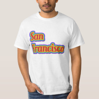 Rainbow San Francisco - on White T-Shirt