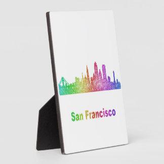 Rainbow San Francisco skyline Display Plaque
